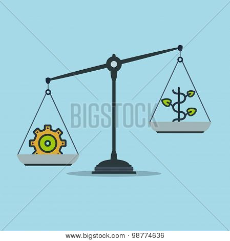 Progress and prosperity on scales business success poster