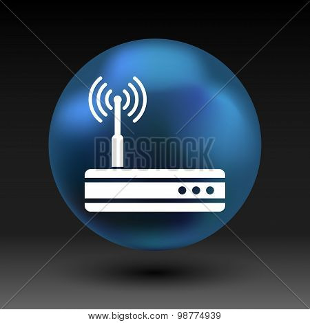 Vector wireless router icon wifi adsl ethernet modem hub . poster