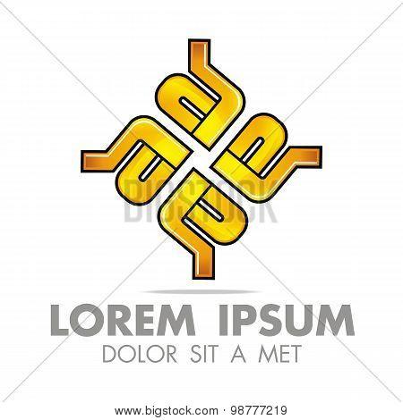 Logo letter a alphabet vector