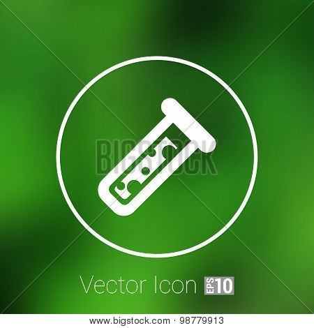 test icon vector fluid symbol flask glass chemistry experiment. poster