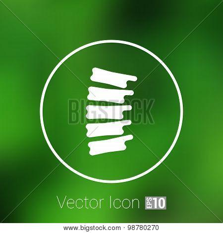 Spine diagnostics symbol design spine icon vector. poster
