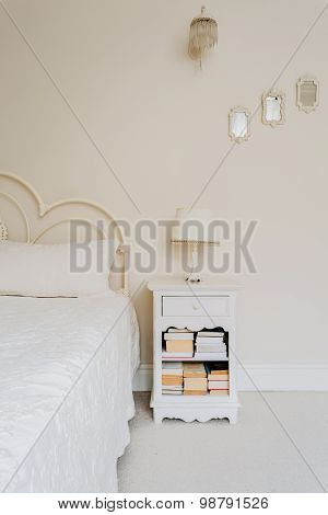 Bedside Table With Books