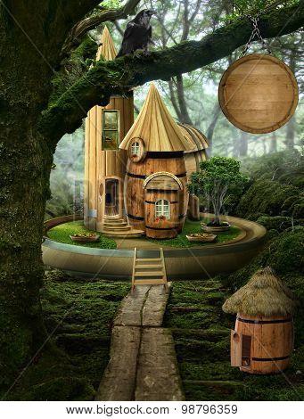 Fairy House ( Barrel)