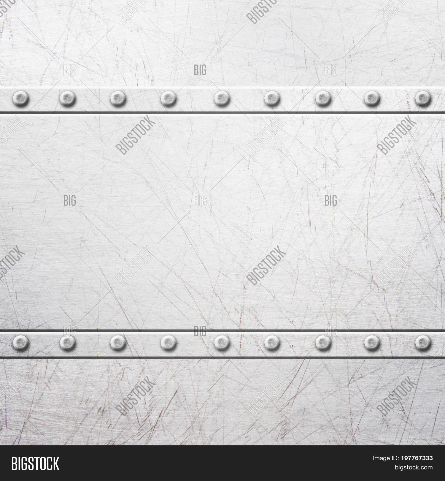 Old Rustic Metal Plates With Rivets Seamless Background Or Texture 3D Illustration