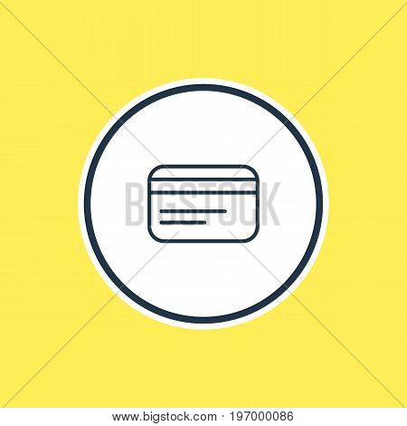 Beautiful Trading Element Also Can Be Used As Payment  Element.  Vector Illustration Of Credit Card Outline.