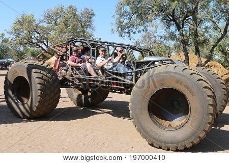 Public Taken On Big Foot Open Sided Large 4X4 Joy Ride.