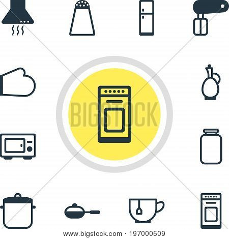 Editable Pack Of Pan, Oven Mitts, Soup Pan And Other Elements.  Vector Illustration Of 12 Kitchenware Icons.