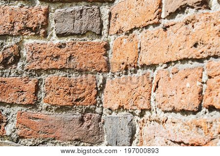 Background of old vintage brick wall, real photo