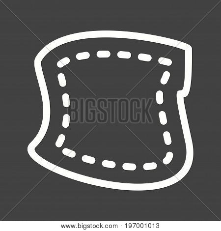 Patch, sewing, fabric icon vector image. Can also be used for Sewing. Suitable for mobile apps, web apps and print media.