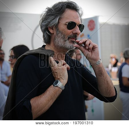 FLORENCE- 13 June 2017 Marco Zambaldo on the street during the Pitti