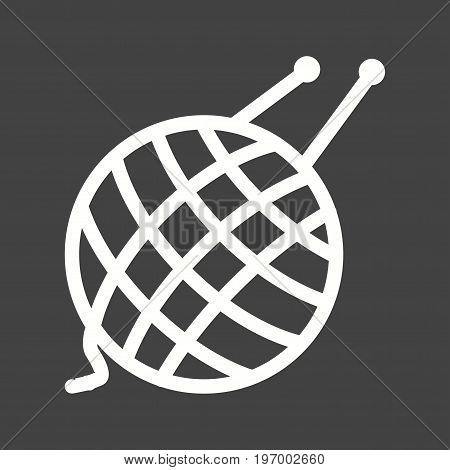 Yarn, wool, knitting icon vector image. Can also be used for Sewing. Suitable for mobile apps, web apps and print media.