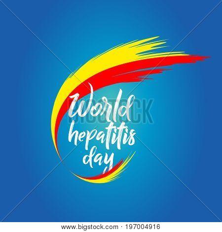 Logo World Hepatitis Day. Vector illustration. Design Template
