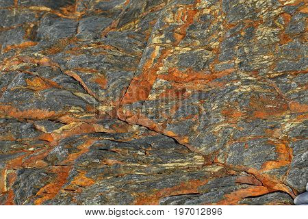 Background texture of red and black rock