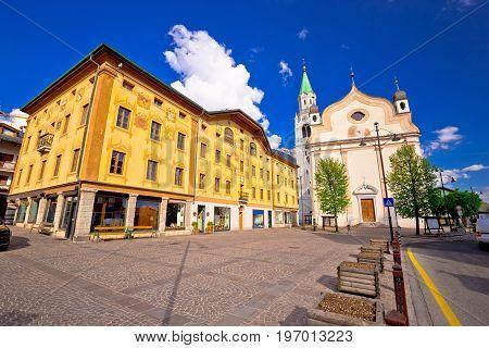 Cortina D' Ampezzo Main Square Architecture View