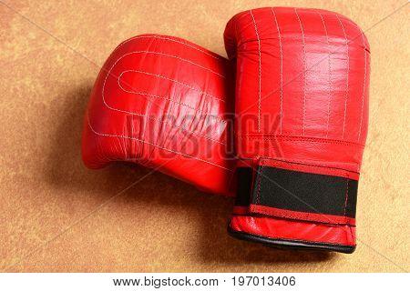 Sport Equipment On Warm Beige Paper Background. Pair Of Sportswear