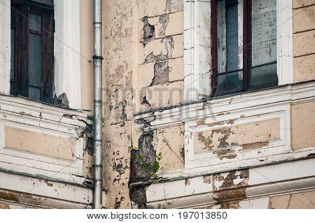 Concept: worn out historic hospital building. Photo details