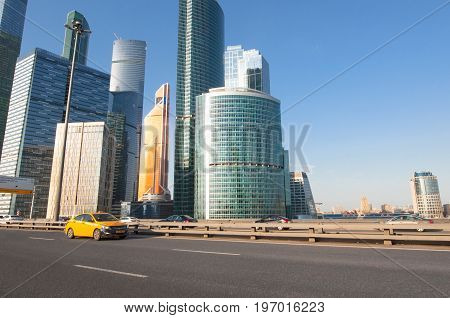 Moscow Russia-April 302017: The Moscow International Business Centre (MIBC) or