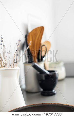 Decoration For Interior Lavender In White Jug