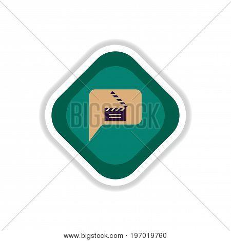 paper sticker on white background film slapstick