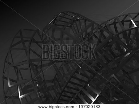 3D Physical Wire-frame Structure Installation