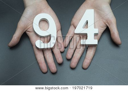 To Female Hands The Figure Of Ninety-four.