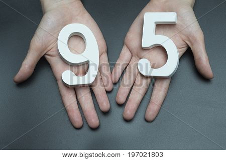 To Female Hands The Figure Of Ninety-five.