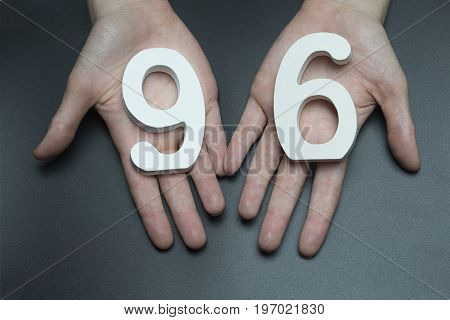 To Female Hands The Figure Of Ninety-six.