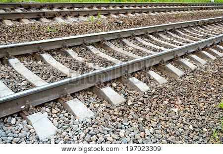 A small part of the railway is shot close-up