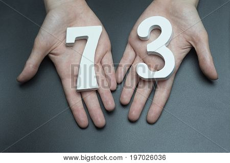 To Female Hands The Figure Of Seventy-three.