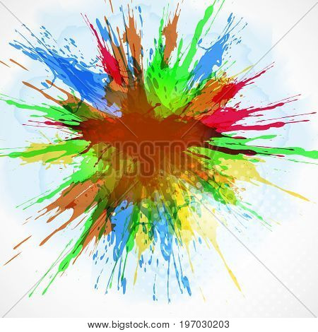 Abstract  background - watercolor paint splash. Vector illustration.