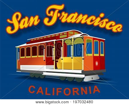 Image of transport tranvia of the city of san francisco