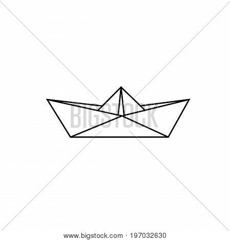 Sketch paper boat. Vector illustration EPS 10