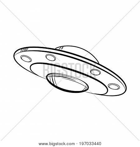 Sketch UFO icon. Vector illustration EPS 10