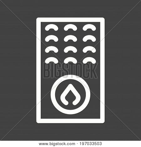 Boiler, gas, furnace icon vector image. Can also be used for Climatic Equipment. Suitable for mobile apps, web apps and print media.