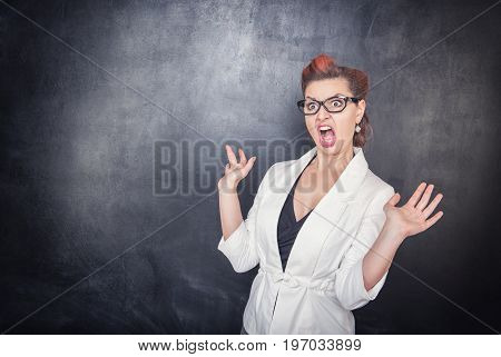 Angry Screaming Teacher