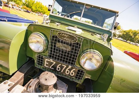New Zealand - APRIL, 2016: Exhibition of vintage cars in Auckland, New Zealand