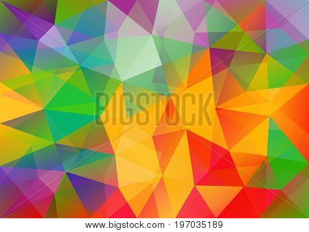 Multicolor geometric background with triangular polygons. Abstract design. Vector illustration eps10.