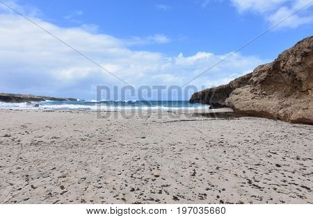 Aruba's Andicuri white sand beach located on the east coast of Aruba.