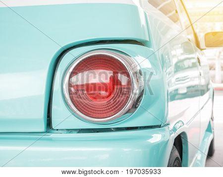 Closeup tail light lamp vintage classic car - vintage effect style pictures