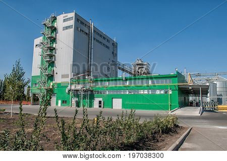 landscape traditional agricultural large industrial factory farm