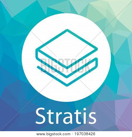 Stratis (Strat) decentralized blockchain  criptocurrency platform vector logo.
