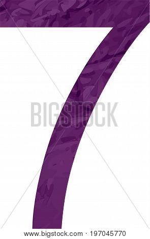 Abstract figure, number. Vector illustration style tape concept