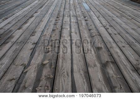 Countryside aged old farm barn floor closeup view