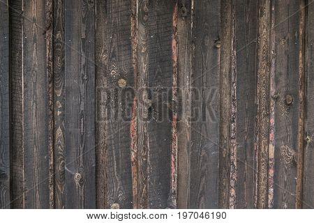 Countryside aged old farm barn wall closeup view