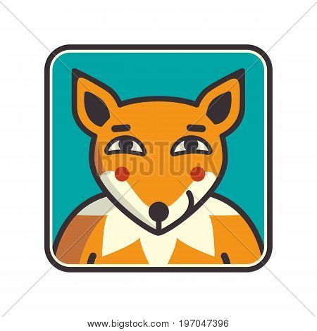 Fox head Vector Illustration. Illustration of fox head cartoon style. Fox muzzle avatar. Vector illustration