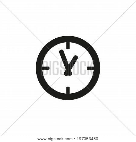 Icon of clock. Morning, departure, deadline. Time management concept. Can be used for topics like airport, schedule, timer