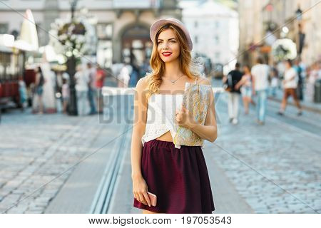 Beautiful Girl On Sightseeing