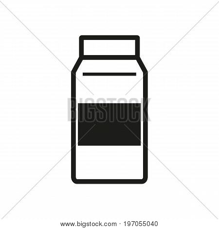 Icon of milk package. Dairy product, juice, calcium. Allergy concept. Can be used for topics like food, drink, breakfast