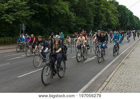 BERLIN GERMANY - JUNE 14 2015: Under the slogan