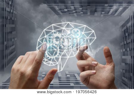 Hands Set Up The Mechanism Of Thinking .
